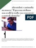 Rifiuti Ambientalisti e antimafia all'attacco Il governo siciliano non avalli la truffa con cementerie e centrali elettriche La Voce di New York