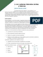 Aminoácidos Con Cadenas Laterales Ácidas y Básicas