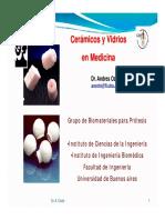 Cerámicos y Vidrios en Medicina