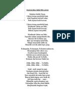 Lirik Lagu Persatuan Gayung Panglima Ulung