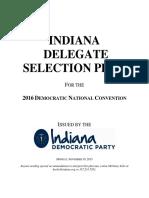 IndianaDemocratic 2016DelegateSelectionPlan 11.30.15