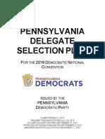 PennsylvaniaDemocratic 2016DelegateSelectionPlan FINAL 12.17.2015
