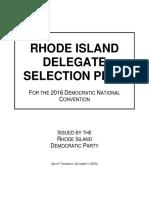 RhodeIslandDemocratic 2016DelegateSelectionPlan 10.01.15