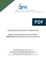 WisconsinDemocratic 2016DelegateSelectionPlan 2015.10.29 FINAL