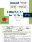 Plan 1er Grado - Bloque 3 Educación Artística