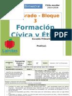 Plan 1er Grado - Bloque 3 Formación C y E