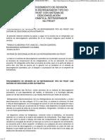 PROCEDIMIENTO DE REVISIÓN DE UN REFRIGERADOR TIPO NO FROST CON SISTEMA DE DESCONGELACIÓN AUTOMÁTICA, REFRIGERADOR NO FROST.pdf