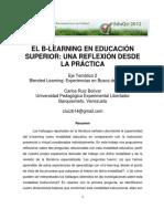 El B-learning en Educacion Superior Una Reflexion Desde La Practica