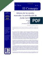 Julian Carrillo's Contribution