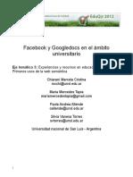 Facebook y Googledocs en El Ambito Universitario