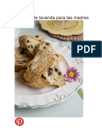 Biscottis de Lavanda Para Las Madres