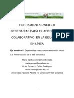 Herramientas Web 2.0 Necesarias Para El Aprendizaje Colaborativo