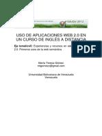 Uso de Aplicaciones Web2.0 en Un Curso de Ingles a Distancia