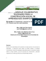 El Aprendizaje Colaborativo Escenario Para La Construccion Social de Aprendizajes Significativos