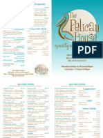 Pelican House Menu 2010