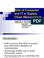 Role of Information technology in Supply chain management