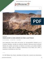 Destrucción a cielo abierto en San Luis Potosí _ SubVersiones