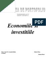 Economiile si investitiile