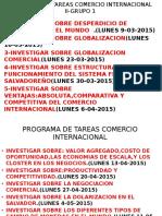 Programacion de Tareas Comercio Internacional Grupo 1