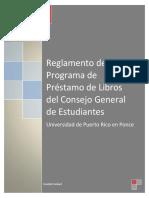 Reglamento del Programa de Préstamo de Libros del CGE PONCE