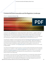 Commercial Drone Innovation and the Regulatory Landscape