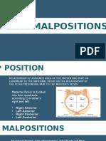 FETAL MALPOSITION