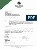 Notificación de sentencia TC168