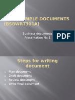 Write Simple Documents Presentation 1 2013 Kc