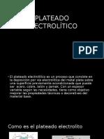 PLATEADO ELECTROLÍTICO