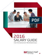 Robert Half Technology 2016 Salary Guide
