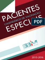 Calendário Vacinal Pacientes Especiais - 2015-16