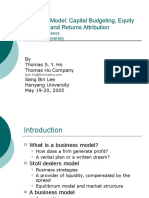 Business Model Capital Budgeting, Equity Valuation and Returns Attribution
