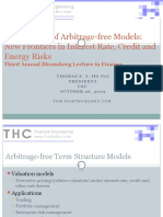 Applications of Arbitrage-free Models New Frontiers in Interest Rate, Credit and Energy Risks