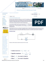 Series Resonance in a Series Resonant Circuit