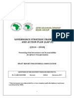 2014-2018 - Governance Strategic Direction and Action Plan GAP II Draft Report for External Consultation