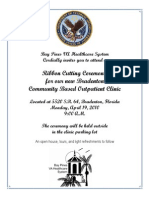 Bradenton VA Community Based Outpatient Clinic; Invitation Flyer