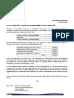 Presse +Rapport+Financier+2009