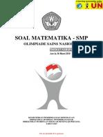 Soal OSN SMP Bidang Matematika Tingkat Kabupaten Tahun 2015 - Sabtu, 07 Maret 2015 (1)