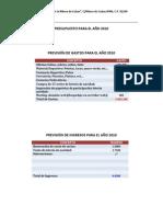 Presupuesto año 2010
