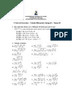 Lista 1 Calculo Dif e Integral I T04