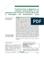 The Possible Protective Role of Magnesium on Ciprofloxacin Induced Chondrotoxicity on the Epiphyseal Plate Growth of Juvenile Albino Rat