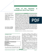 Morphological Study of the Placenta; A Reflection of Intrauterine Life of the Foetus.