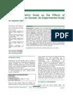 Histomorphometric Study on the Effects of Methotrexate on Gonads