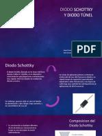 Diodos Schottky y Tunel
