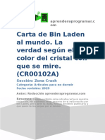 CR00102A Carta de Bin LaCarta de Bin Laden al mundo verdad segun color cristaden Al Mundo Verdad Segun Color Cristal