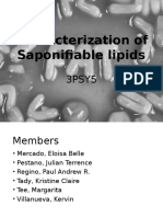 Characterization of Saponifiable Lipids