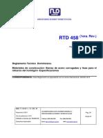 Reglamento Tecnico 458 (1era Rev.)
