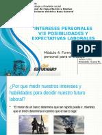 Intereses Personales vs Posibilidades y Expectativas Laborales