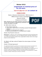 PM0012-Project Finance and Budgeting