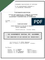Le Logement Social en Algerie